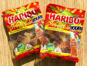 2x-HARIBO-Happy-Cola-ZOURR-Cola-flavor-Jelly-Sweets-candy-Gummy-Chewy-Snack-30g