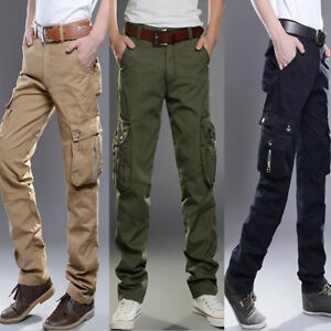 Men-039-s-Army-Cargo-Overall-Military-Combat-Tactical-Casual-Outdoor-Pants-Trousers