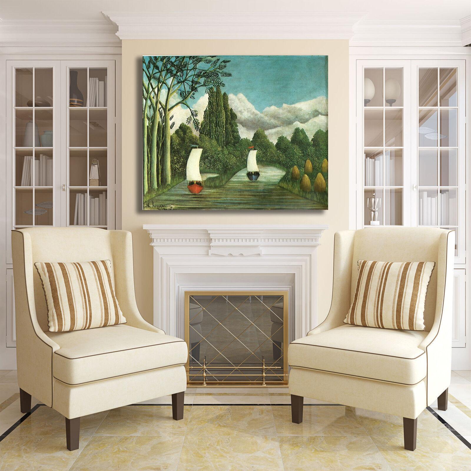 Rousseau a barche a Rousseau vela design quadro stampa tela dipinto telaio arRouge o casa 28d8c7