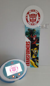 """TRANSFORMERS """"ROBOTS IN DISGUISE"""" PROMO 3D BANNER + 7"""" DISPLAY SCREEN WITH VIDEO"""