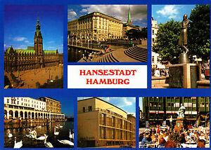 Hansestadt-Hamburg-ungel-Ansichtskarte