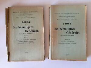 Robert Deltheil Corso Di Matematica Generale T.1-2 Facoltà Toulouse 1925