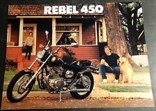 1986 HONDA REBEL 450 MOTORCYCLE SALES BROCHURE 4 PAGES NICE  (711)