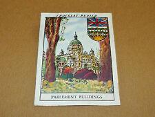 CHROMO #36 BRITISH COLUMBIA VICTORIA CANADA CHOCOLAT PUPIER AMERIQUE NORD 1952