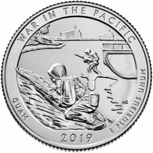 2019 PDS War In the Pacific Guam National Park Quarters American The Beautiful