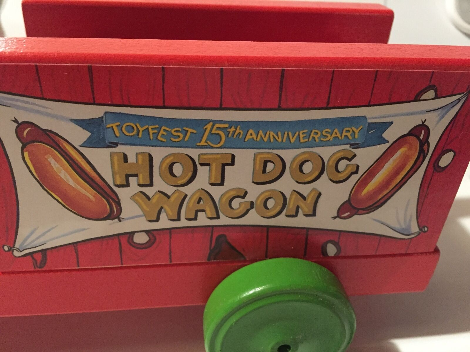 Hot Dog Wagon Toy Fest 2001 Fisher Price Commemorative Toy