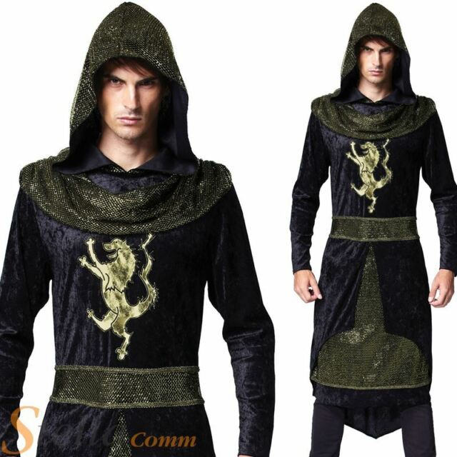 Knight Costume Adult Black Sheriff of Nottingham Game of Thrones Fancy Dress
