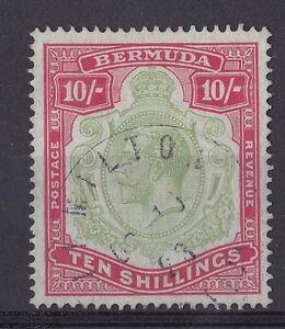 DB193-Bermuda-1918-10-Green-amp-Carmine-on-pale-bluish-green-SG54