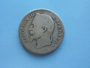 France-2-Francs-1867-BB-full-silver-in-OK-Condition