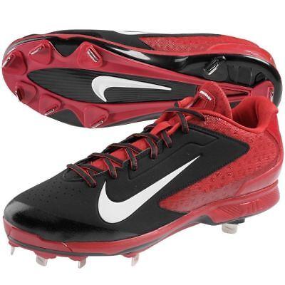 hot sale online 1403f da240  90 Mens NIKE AIR HUARACHE PRO LOW Metal Baseball Cleats BLACK RED sz 12