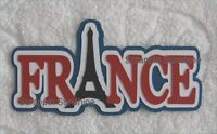 France Die Cut Title Travel Vacation Scrapbook Page Paper Piece - Sffdeb
