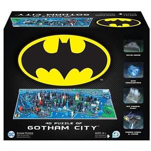 Batman-GOTHAM-CITY-Huge-1800-3D-Puzzle-4D-Cityscape-OVP-in-Folie