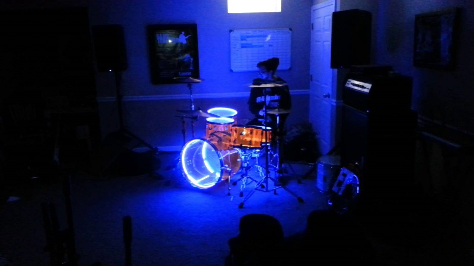 LED's ____ DRUM ____ LIGHT ___ KITS --- UNIVERSAL light kit fits any DRUM set