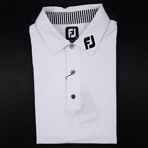FootJoy-Titleist-FJ-Collar-Polo-Medium-White-New-Nwt-Mens-Size-Sz-M-ProDry-Lisle