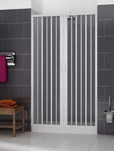 Duschtrennwand Dusche In Kunststoff Nische Faltwand Duschabtrennung