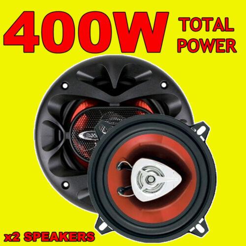 Boss 400w Total 2way 5.25 Pulgadas 13cm coche door//shelf Altavoces Coaxiales Rojo Par