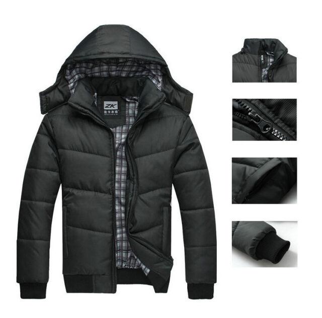 2015 Men's Warm Hoodie Hoodey Coat Parka Winter Coat Outwear Down Jacket