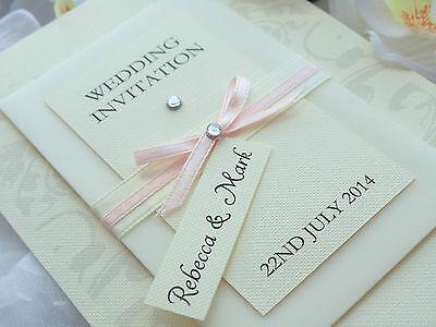 "Handmade Personalised Luxury Wedding/Evening Invitations ""LUCKY LOVE"" - Aviforis"