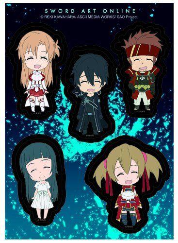 Sword Art Online SD Character Happy Licensed Sticker Set!