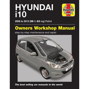 hyundai i10 1 2 petrol 2008 13 58 63 reg haynes workshop manual ebay rh ebay co uk 2003 Hyundai Tiburon Repair Manual Hyundai H1 Repair Manuals