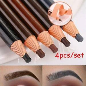 4x-Microblading-Eyebrow-Waterproof-Peel-off-Liner-Pencil-Brown-Black-Makeup-Tool