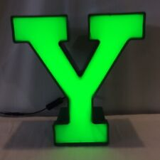 Letter Y Green Channel Led Letter Light Industrial Quality Toggle Onoff