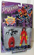 Amazing Spider-Man Spider-Woman Black Widow w/Assault Gear - Toy Biz 1996