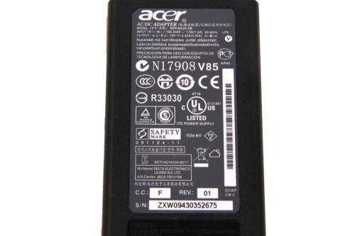 Original OEM Acer 40W~90W AC Charger Power Adapter Cord For TravelMate P series