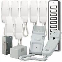 Bell908 8way System Audio Door Phone Intercom Electric Lock Kit Power Supply