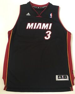 best sneakers 8b4b4 4192e Details about Official Adidas Dwyane Wade #3 Miami Heat Jersey Size Kids LX