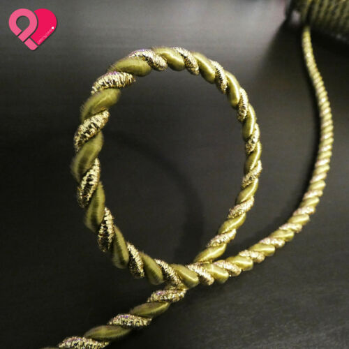 Metallic Twist Cord Rope Braid Jewelry Soutache Gift Tag Gold Silver White 3//6mm