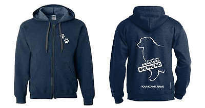 Women's Clothing Miniature American Shepherd Full Zipped Dog Breed Hoodie,dogeria Breed Design Other Dog Collectibles