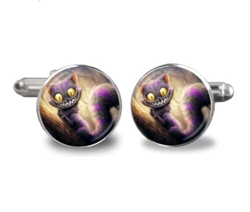 Alicia en el País De Las Maravillas Gato de Cheshire sonrisa Gemelos Ropa Formal Negocio Boda
