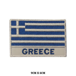 GREECE-National-Flag-Embroidered-Patch-Iron-on-Sew-On-Badge-For-Clothes-etc