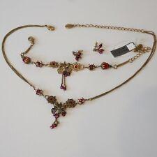NEW PILGRIM ANKLET SILVER CHAIN BRACELET CRYSTALS ENAMEL PASTEL DAISY FLOWERS .