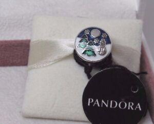 New W Box Pandora Snowy Wonderland Winter Scene Charm