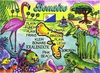 Bonaire Map Caribbean Fridge Collector's Souvenir Magnet 2.5 X 3.5