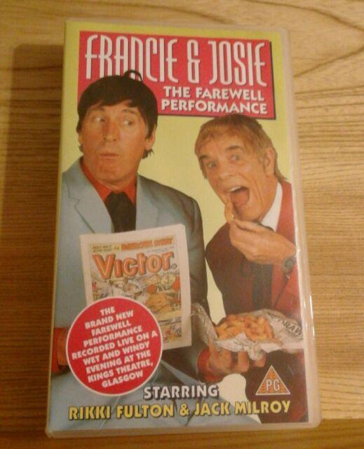 vhs FRANCIE & JOSIE The Farewell Performance Glasgow 96 Rikki Fulton Jack Milroy