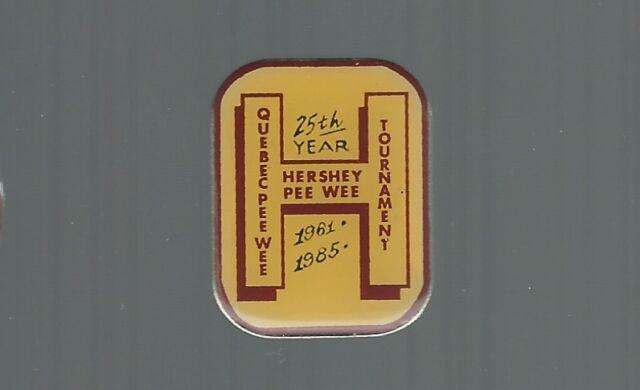 1985 Hershey Bears  ''25th years / 1961-1985''  Quebec Minor Hockey pin