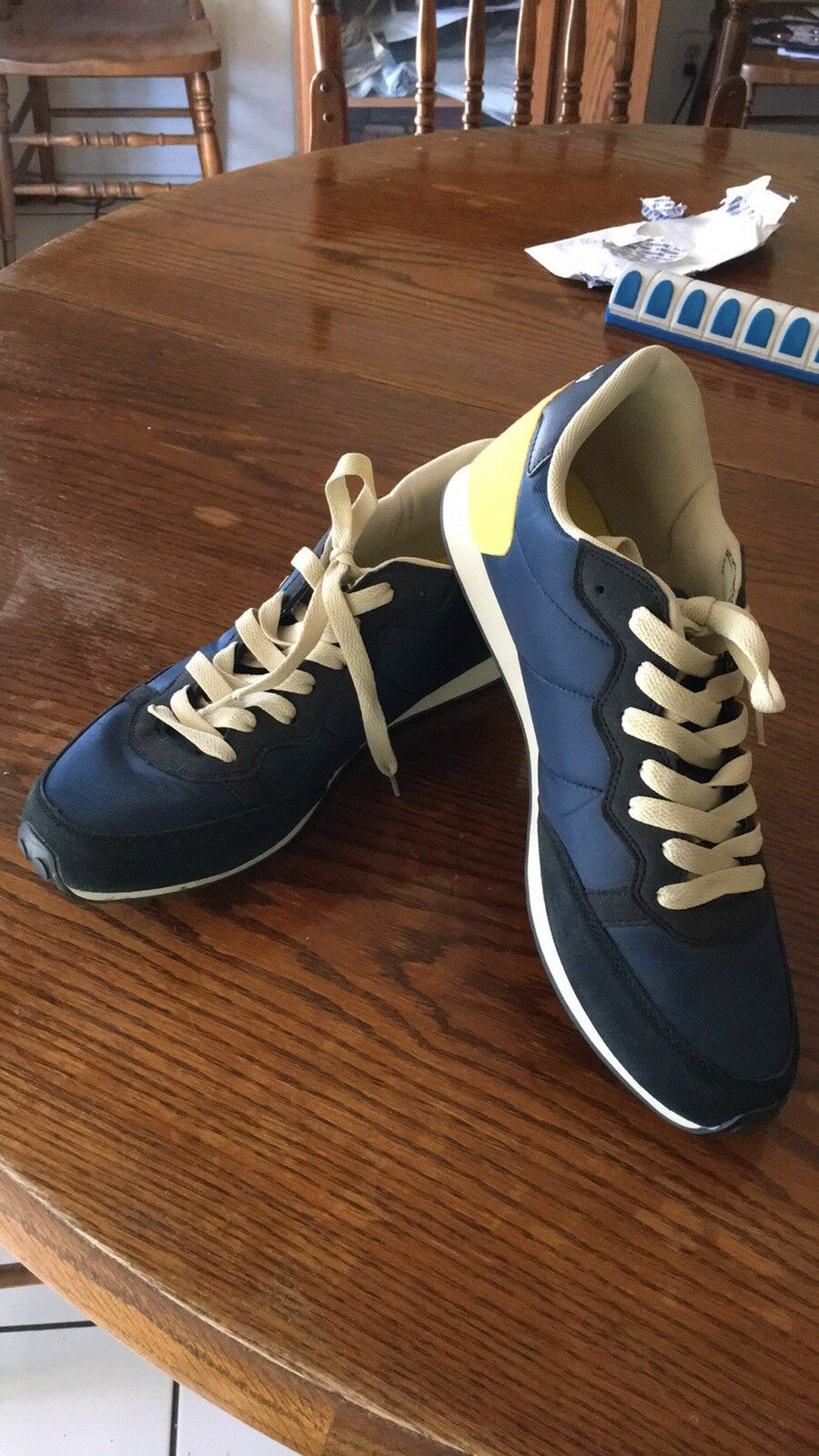 Admiral Men's bluee And Yellow Sneakers Size 11 1 2