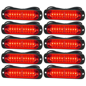 10pcs-Red-10LED-Car-Truck-Emergency-Beacon-Warning-Hazard-Flash-Strobe-Light-Red