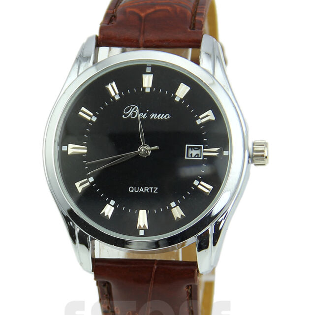 Men's Luxury Electronic Stainless Steel Leather Casual Quartz Wrist Watch