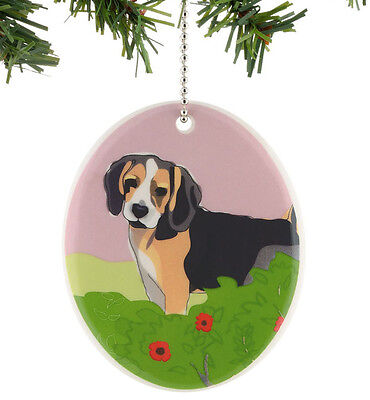 New GO DOG by PAPER RUSSELL Hanging Ornament CAVALIER KING CHARLES SPANIEL Art