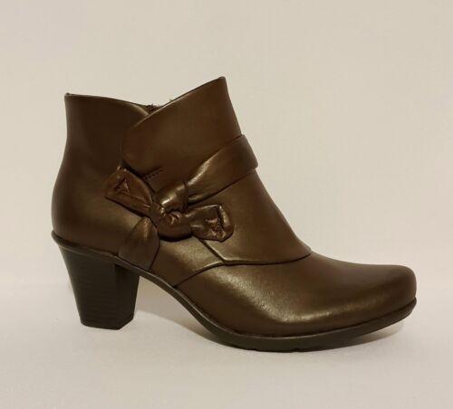 Botines Botas cuero Damas de Tan Kaine de Brown Zapatos tobillo Clarks genuino Zwx01gOUUq