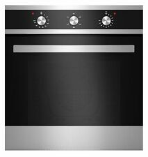 """Empava 24"""" Tempered Glass Electric Built-in Single Wall Oven Black and Silver"""