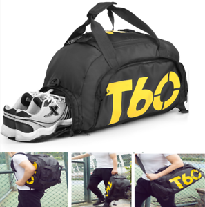 471dc2deed13 Image is loading Gym-Bag-Sport-Travel-with-Pocket-Shoe-Waterproof-