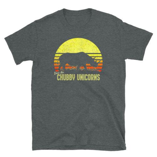 Rhino Black Rhinoceros African Animals Retro Sunset Vintage Tee Unisex T-Shirt
