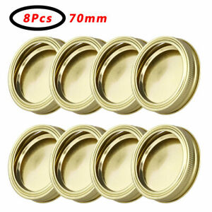 US-8Pcs-Sprout-Mason-Jars-Lid-Screw-Bands-Rings-with-Removable-Discs-Canning-Cap