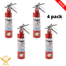 4 Pack 25 Lb Fire Extinguisher Abc Dry Chemical Rechargeable Dot Vehicle