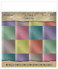 "Tim Holtz TH93784 Idea-ology Paper Stash 8x8"" Metallic Confections"
